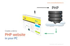 create a demo php website in your local computer,how to set up php locally, how to install php in pc,create a php application in pc without a online hosting Php Website, Web Technology, Web Development, Internet Marketing, Lightroom, Social Media, Create, Simple, Online Marketing