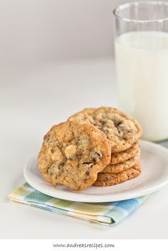 Chocolate Chip Oatmeal Cookies, from the Cookies for Kids Cancer Best Bake Sale Cookbook. Great organization, and good book with tasty uncomplicated recipes.