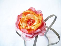 Silk Rose Handmade Flower Pin Yellow and by MyFlowerAccessories