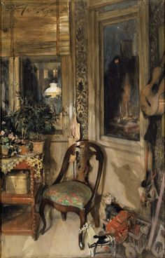 Toys in the corner, by Carl Larsson