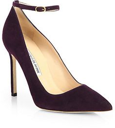 Shop for BB 105 Suede Ankle-Strap Pumps by Manolo Blahnik at ShopStyle. Kinds Of Shoes, Pumps, Heels, Shoe Sale, Manolo Blahnik, Shoes Online, Ankle Strap, Fashion Shoes, Christian Louboutin