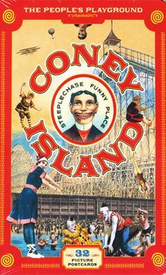 Coney Island Postcard: The People's Playground Old Circus, Vintage Circus, Vintage Menu, Vintage Signs, Coney Island Amusement Park, Amusement Parks, Island Theme, New York Pictures, Carnival Rides