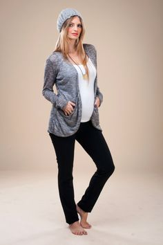 Maternity Pants, Maternity Nursing, Maternity Tops, Maternity Wear, Maternity Dresses, Winter Cardigan, Grey Sweater, Knit Cardigan, Nursing Dress
