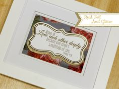 Foil and Glitter Gallery Art With Frame by SimplyBeautifulByLC