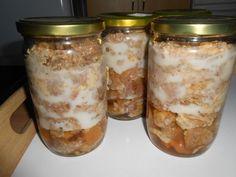 Zavárané bravčové výpečky • recept • bonvivani.sk Marmalade, Preserves, Mason Jars, Cheesecake, Food And Drink, Homemade, Canning, Syrup, Cooking