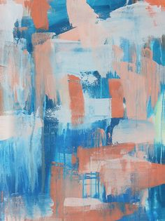 Ocean, Abstract Canvas Art // Abstract Artist Charlie Albright // Moments by Charlie Art + Fashion + Lifestyle + Photography