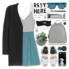 """""""Saturdays"""" by palmtreesandpompoms ❤ liked on Polyvore featuring H&M, DKNY, Acne Studios, Fendi, Gucci, Miss Selfridge, Nicolas Vahé, Rough Fusion, Casetify and MAC Cosmetics"""