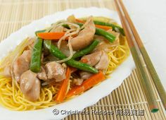 Fried Noodles with Chicken from Christine's Recipes