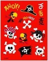 4 Bogen Piraten Spaß Stickers