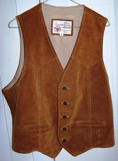 Vintage Mens Genuine Suede Leather Vest Size by JingleDingleDangle