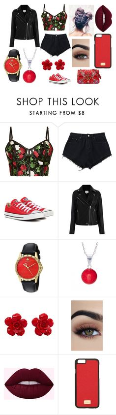 """Red #2"" by kaylamoraled on Polyvore featuring Converse, Gucci, Pori, Chanel and Dolce&Gabbana"