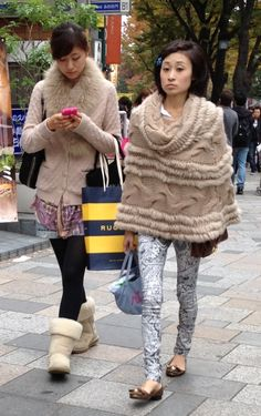 Beige large #cableknit #poncho #tokyotrends #autumn2012 spotted today in #harajuku by #japanfashion