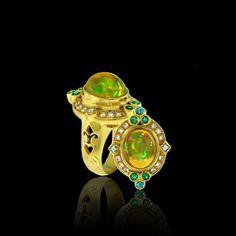 Paula Crevoshay Golden Rainbow, with opal, tourmaline and diamond.
