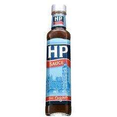 "HP, what can I say ""Quintessentially English"" Uk Recipes, Real Food Recipes, Hp Sauce, British Pub, British Invasion, English Food, Good Ol, Beer Bottle, Yummy Treats"