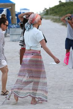 Pin for Later: J Lo's Beach Look Is So Much More Than a Sexy White Bikini Shop Similar Scarves