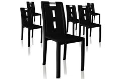 Lot de 6 chaises noires MANO Decoration, Dining Chairs, How To Plan, Table, Design, Furniture, Home Decor, Black Chairs, Decorating