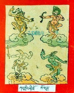 Himalayan Art: Item No. Indiana, Shadow Puppets, Mini Paintings, Indian Gods, Gods And Goddesses, Himalayan, Deities, Religion, Artsy