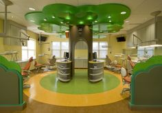 This beautiful pediatric dental practice is sure to keep the kids entertained, and enjoying their dental visit.