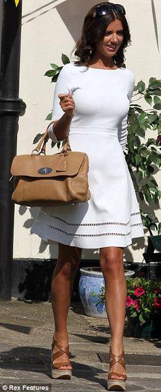 Classy white dress for the bridal shower