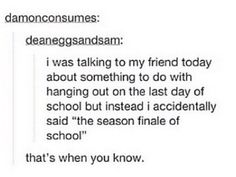 I did something so similar! I was talking about the last period of class and said the last season of class!