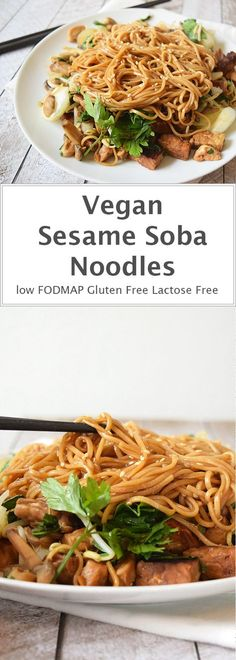 Vegan sesame soba noodles. Very simple to make. Low FODMAP, gluten-free and lactose-free.