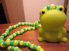 Light green frog kandi necklace