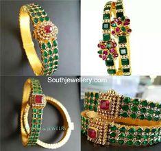 Gold Bangles latest jewelry designs - Page 2 of 31 - Indian Jewellery Designs Gold Bangles Design, Gold Jewellery Design, Silver Jewellery, Ruby Bangles, Silver Bracelets, Bangle Bracelets, Bridal Bangles, Stackable Bracelets, Healing Bracelets