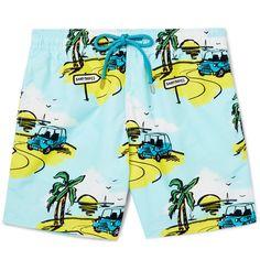 VILEBREQUIN Moorea Mid-Length Printed Swim Shorts. #vilebrequin #cloth #swimwear