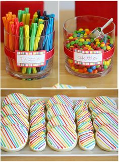 Snacks. http://www.thoughtfullysimple.com/rainbows-and-race-cars-boy-and-girl-party-themes/