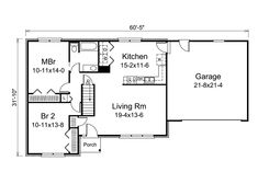 bedroom house plans with garage bedroom design ideas - Simple House Plan With 2 Bedrooms And Garage