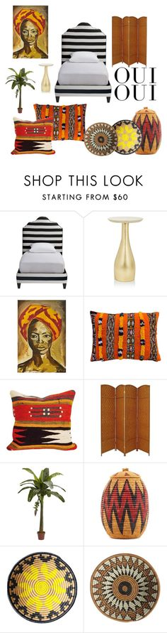 """""""Room tho"""" by jaudonr on Polyvore featuring interior, interiors, interior design, home, home decor, interior decorating, Ginger Brown, NOVICA, The Moroccan Room and Nearly Natural"""