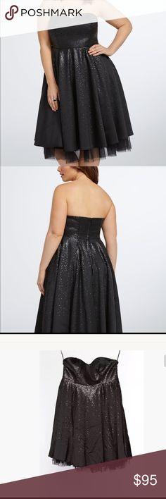 Black strapless dress size 18