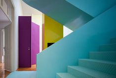 This house in Torres Vedras, Portugal, designed by Portuguese architect and designer Pedro Gadanho, is a colorful wonderland of eyecandy.