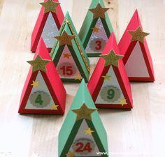 Adventskalender mit Thinlits Tortenstück von Stampin' Up!**Geschenkverp...