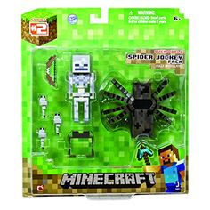 Minecraft Spider and Jockey Action Figure Set Video Minecraft, Minecraft Spider, Minecraft Toys, Minecraft Party, Mojang Minecraft, Minecraft Stuff, Gifts For Boys, Toys For Boys, Legos