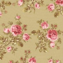 Scattered Roses French Fabric