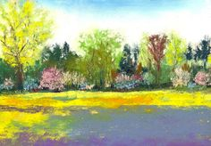 """""""Country Garden"""" Soft pastel painting - $120 - free shipping to the U.S."""