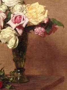 Still Life with Roses of Dijon 1882 Henri Fantin-Latour French born 1836, died 1904