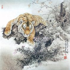 Tiger -- Chinese Paintings -- see more Tiger, Chinese Paintings at: http://andrei-stoliar.ru/post196774513/