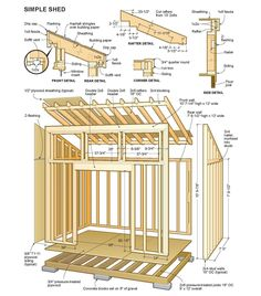 Shed Ideas - Shed Plans - Free Simple Shed Plans - Free step by step shed plans - Now You Can Build ANY Shed In A Weekend Even If Youve Zero Woodworking Experience! Now You Can Build ANY Shed In A Weekend Even If You've Zero Woodworking Experience! Shed Design Plans, Wood Shed Plans, Shed Building Plans, Diy Shed Plans, Storage Shed Plans, Shed Plans 8x10, Lean To Shed Plans, Shed Ideas, 8x10 Shed