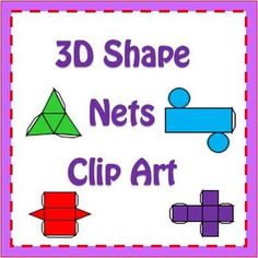 Nets of 3D Shapes Clipart $ #math