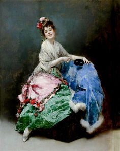Portrait of a Lady  by Raimundo de Madrazo y Garreta (Spanish 1841-1920)