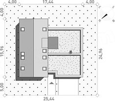 Projekt domu Nowoczesny 1 216,3 m2 - koszt budowy - EXTRADOM Lockers, Locker Storage, House Plans, Floor Plans, How To Plan, Architecture, Furniture, Home Decor, Build House