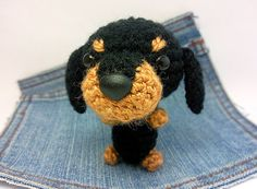 Amigurumi Dachshund crochet Dachshund Puppy Dog toy. by Owlystore, $20.00
