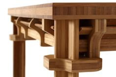 'zhuo pin-ming' follows the joinery and tenon structure of traditional chinese table designs