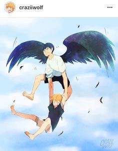 Hinata and Kageyama | Haikyuu Art by Craziiwolf