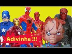 Pegadinha Adivinha  Capitão América Homem de Ferro Homem Aranha Caveira ...