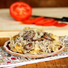 Healthy Hamburger Stroganoff from Scratch - The Weary Chef