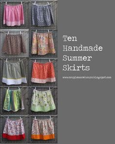 10 Summer Skirts using 2 patterns... FUN!! ****UGH!!! Link does not work!!!