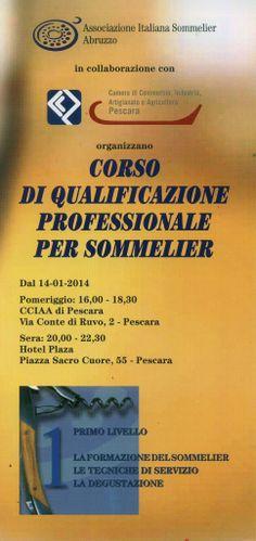 Corso da sommelier al via da martedì 14 gennaio   L'Abruzzo è servito   Quotidiano di ricette e notizie d'Abruzzo